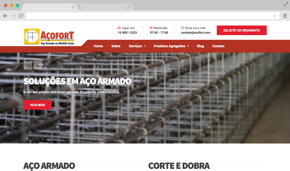 Site Açofort - Home