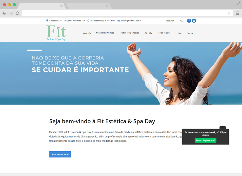 Site Fit Estética - Home