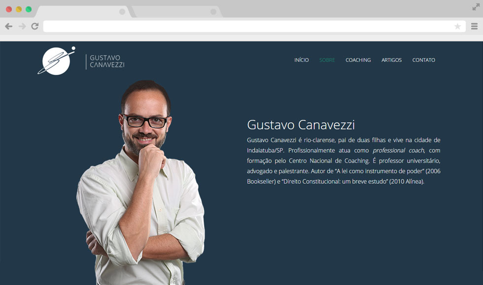 Site Gustavo Canavezzi - Home