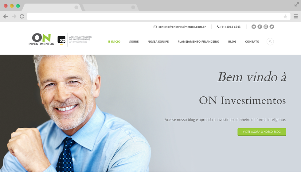 Site ON Investimentos - Capa