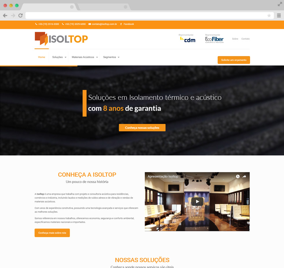 Isoltop site tela 1
