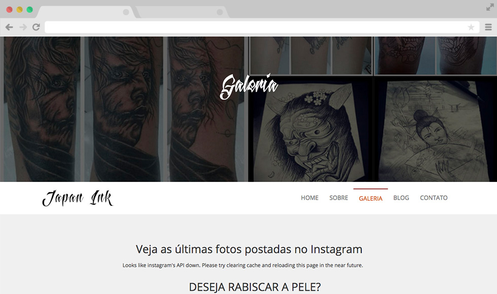 Site Japan Ink - Galeria