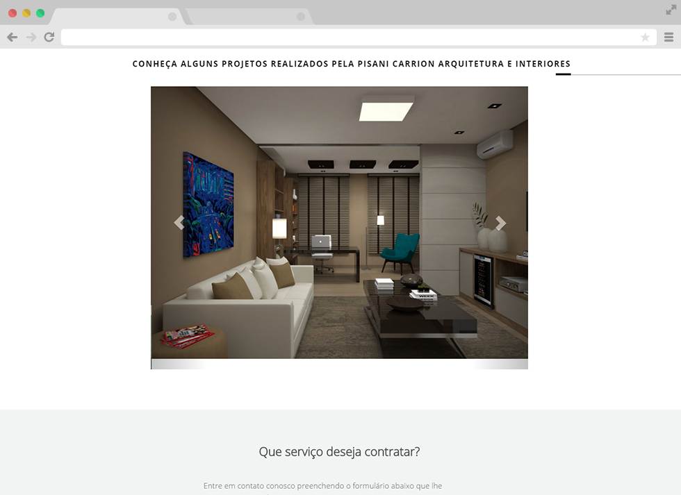 Site Pisani Carrion - Projetos