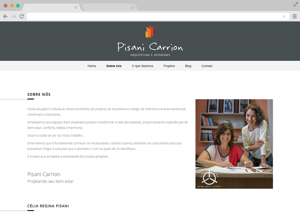 Site Pisani Carrion - Sobre