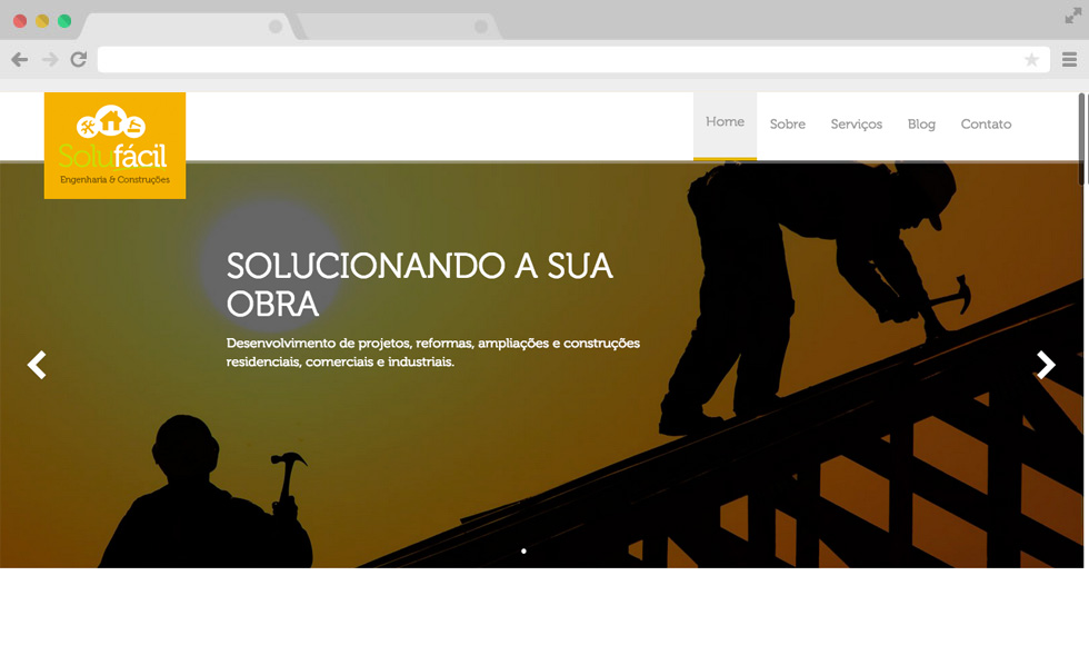 Site Solufácil - Slide home
