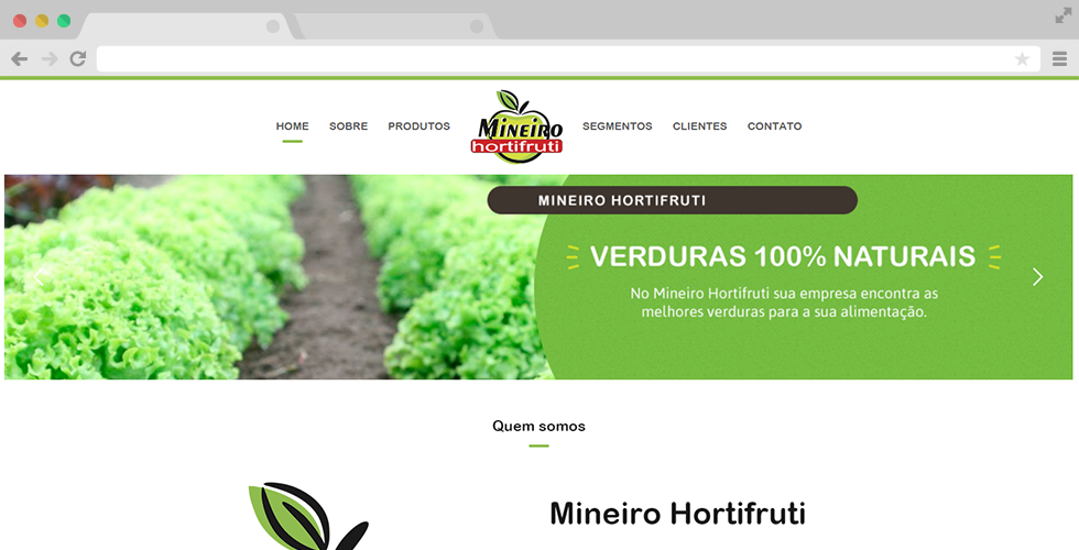 Home do site do Mineiro Hortifruti